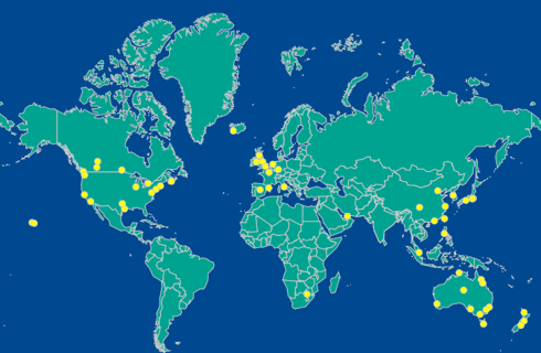 MNH Global Network Map - With over 50 locations world wide, MNH is able to provide Global Laundry and Headset Servicing Solutions. We operate where our customers do and offer a single-point, consolidated service.